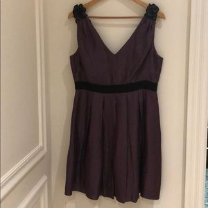 Adrianna Papell purple dress with rosette back
